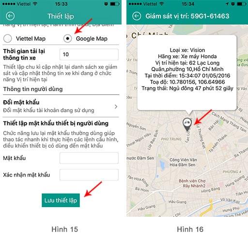 cài đặt Google Map trên Smart Motor Viettel