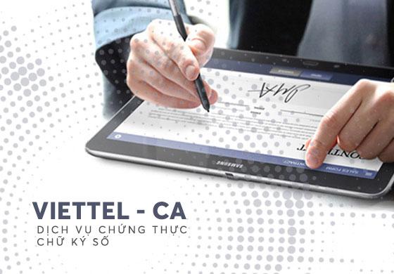 Dịch vụ chữ ký số Viettel (Viettel-CA)