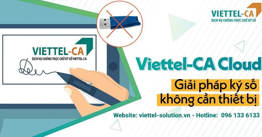 Chữ ký số Viettel-CA Cloud